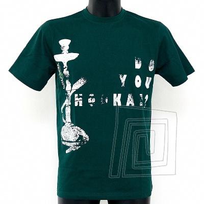 Zelen� bavlnen� tri�ko It's not a bong, kr�tky ruk�v, ve�kos� M