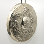 Gong dekorat�vny Osem ��astn�ch symbolov strieborn�