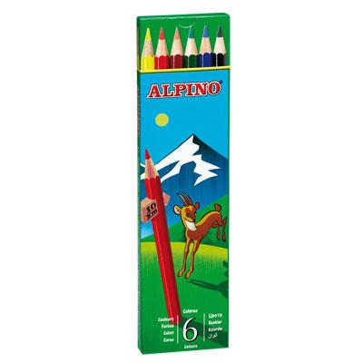 Ceruzky Alpino farebn� 6ks