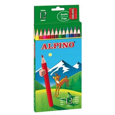 Ceruzky Alpino farebn� 12ks + str�hadlo zadarmo