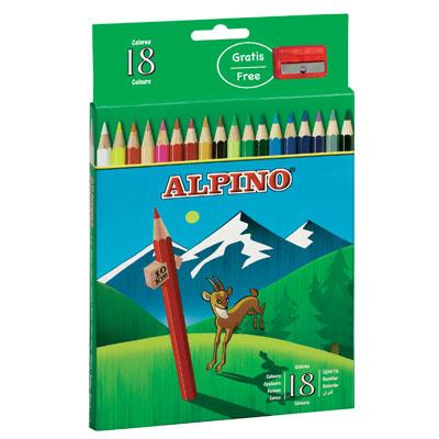 Ceruzky Alpino farebn� 18ks + str�hadlo zadarmo