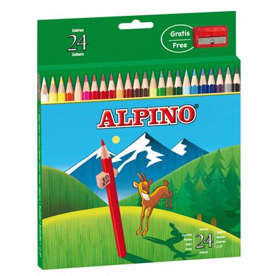 Ceruzky Alpino farebn� 24ks + str�hadlo zadarmo
