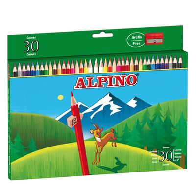 Ceruzky Alpino farebn� 30ks + str�hadlo zadarmo