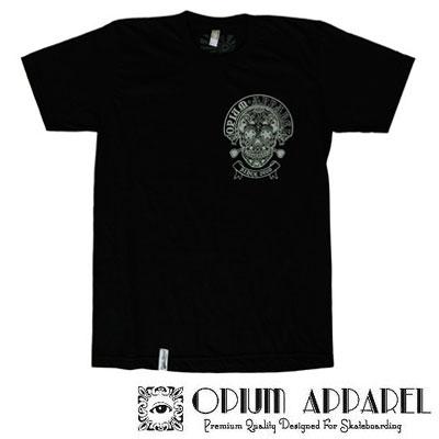 Tri�ko Opium Apparel Muerto M �ierna