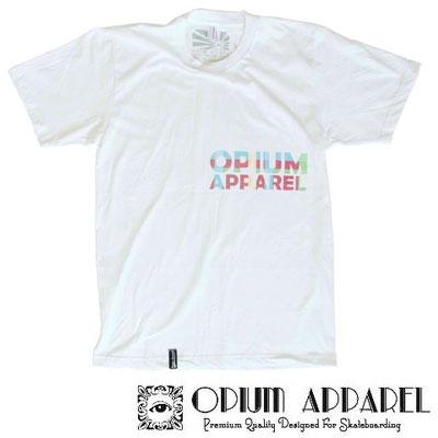 Tri�ko Opium Apparel Modes L biela