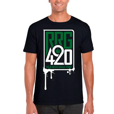 420 Moje mesto Ganjatown tri�ko RRG420 �ierna