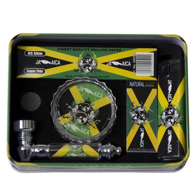 Dar�ekov� sada Jamaica - fajka, drvi�ka, zapa�ova�, filtre + papieriky