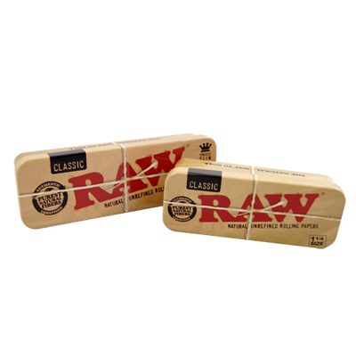 Box na cigaretov� filtre RAW Tin Cone Caddy for Pre-rolled 1,1/4 BOX 8 ks