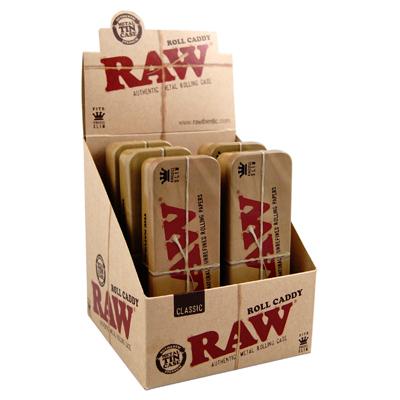 Box na cigaretov� filtre RAW Tin Cone Caddy for Pre-rolled KS BOX 6 ks